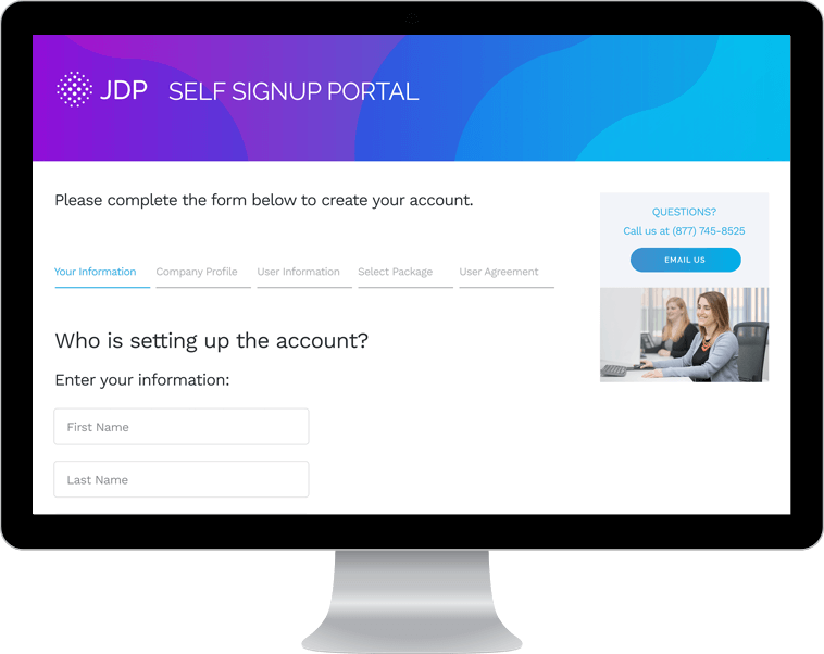 JDP Self Signup Portal
